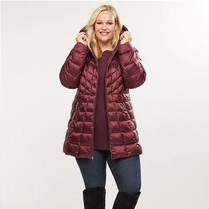 Lane Bryant Packable Down Puffer Coat Jacket
